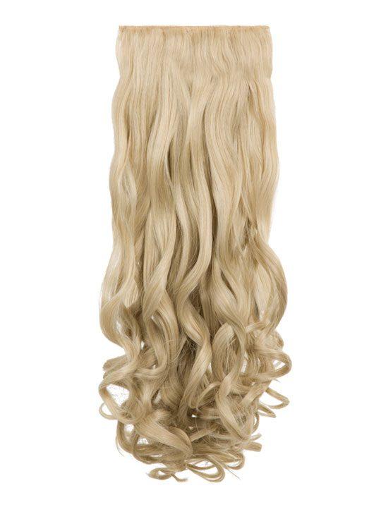 Angella 8 Weft Curly Hair Extensions In Light Golden Blonde Koko