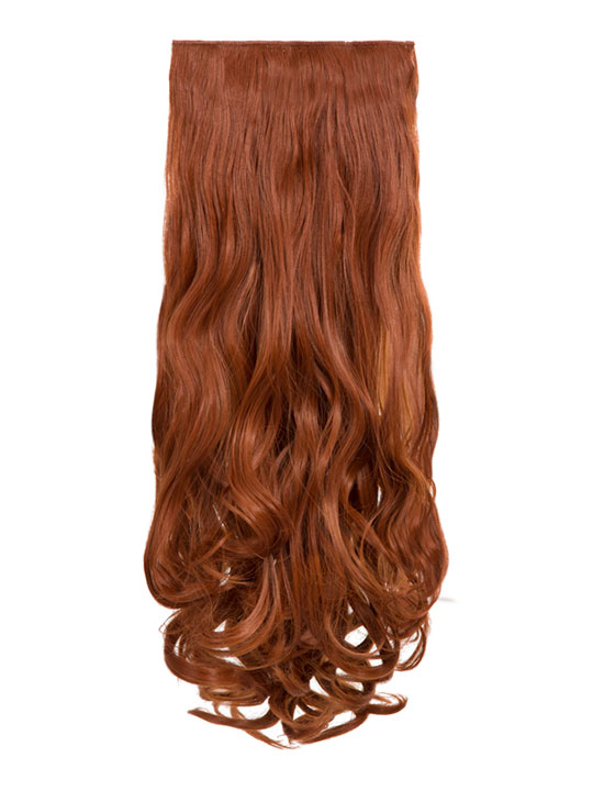 Angella 8 Weft Curly Hair Extensions In Copper Red Koko Couture