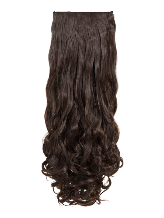 Angella 8-piece curly full head extensions In Coffee Brown  449df0920