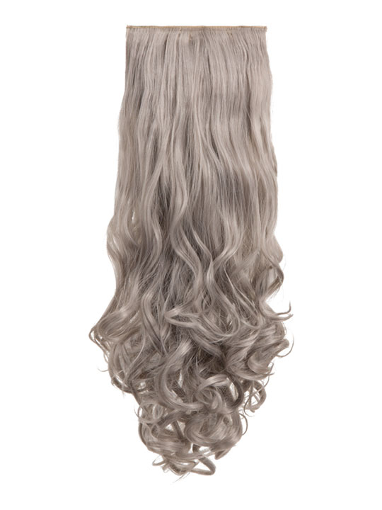 Angella 8-piece curly full head extensions In Silver Gray  3a686d7ba