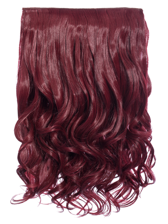 Selena 1 piece weft curly hair extensions in burgundy koko selena 1 weft curly 20 hair extensions in burgundy pmusecretfo Choice Image