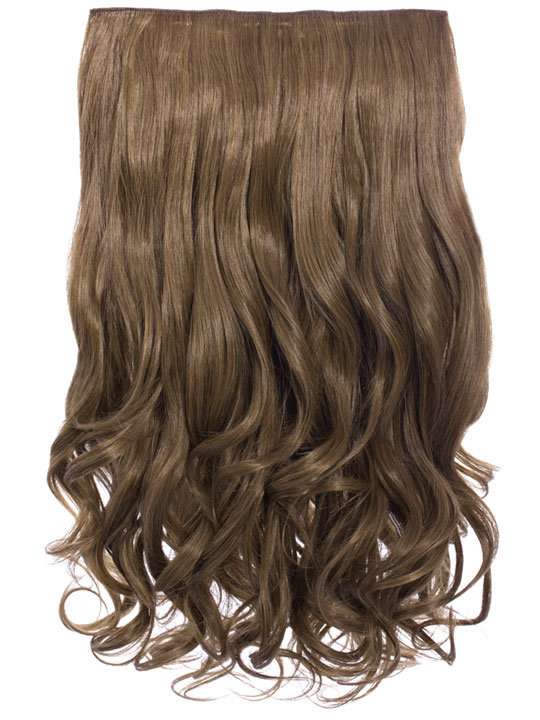 Selena 1 Piece Weft Curly Hair Extensions In Harvest