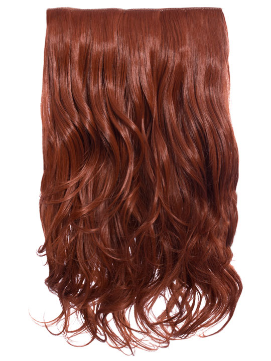 Selena 1 Piece Weft Curly Hair Extensions In Copper Red Koko