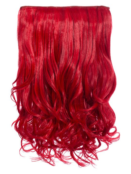 Selena 1-piece Weft Curly Hair Extensions In Red  e6fbe4c73