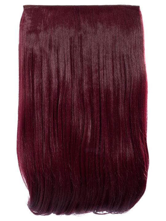 Lorna 1 Piece Straight Hair Extensions In Burgundy Koko