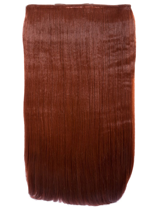 Lorna 1 Piece Straight Hair Extensions In Copper Red Koko