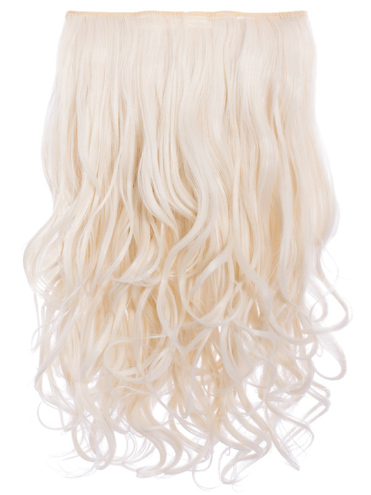 Selena 1 Weft Curly 20 Hair Extensions In Bleach Blonde Koko Couture