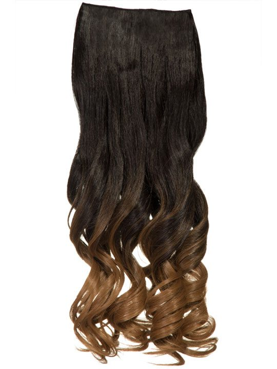 Dip dye curly one piece hair extensions in dark brown to ginger dip dye curly one piece hair extensions in dark brown to ginger pmusecretfo Gallery