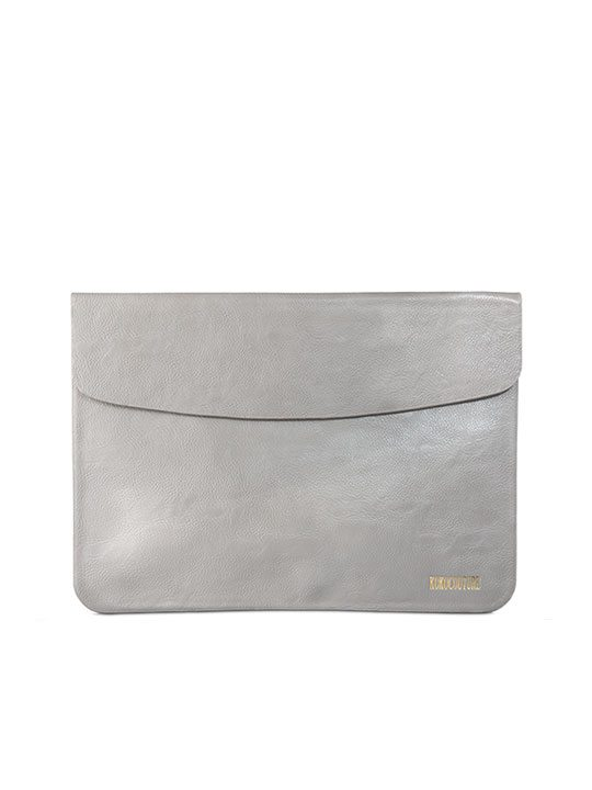 Grey Faux Leather Document Envelope