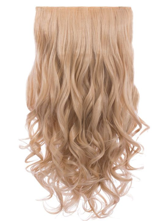 Lena 3 weft curly 22 hair extensions in champagne blonde koko lena 3 weft curly 22 hair extensions in champagne blonde pmusecretfo Images