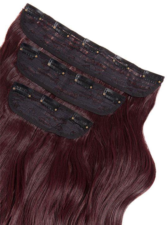 Lena 3 weft curly 22 hair extensions in dark burgundy koko couture lena 3 weft curly 22 hair extensions in dark burgundy pmusecretfo Choice Image