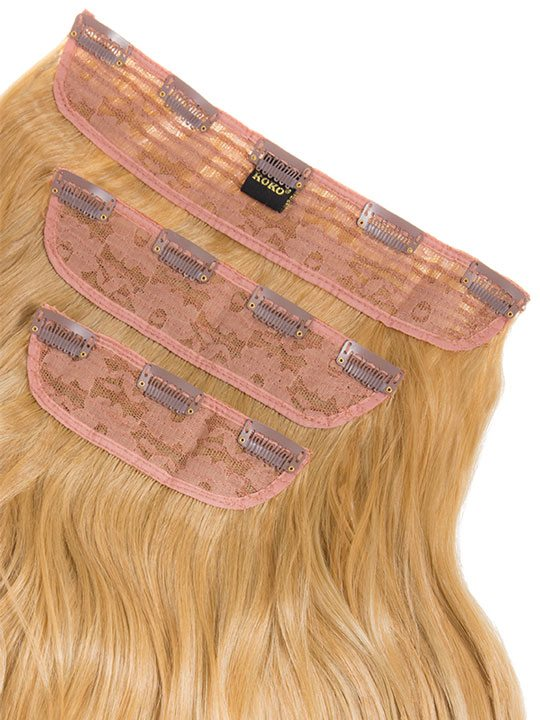 Lena 3 Weft Curly 22 Hair Extensions In Caramel Blonde Koko Couture