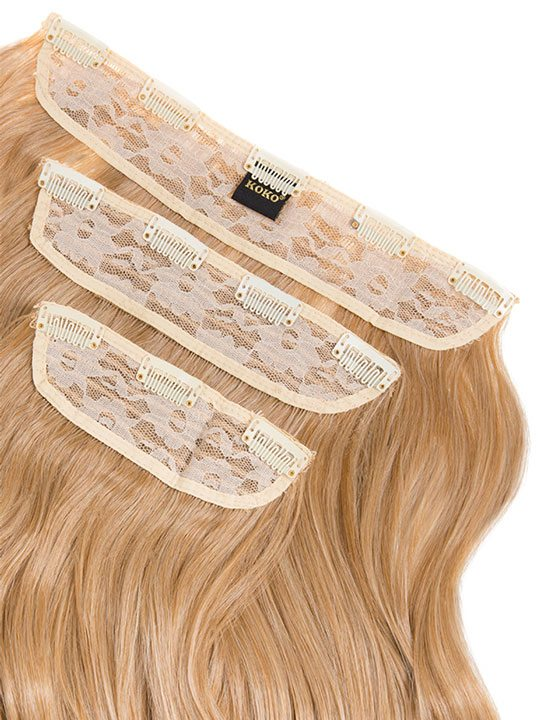 Lena 3 Weft Curly 22 Hair Extensions In Honey Blonde Koko Couture