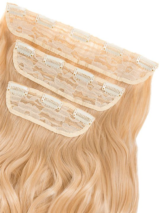 Lena 3 Weft Curly 22 Hair Extensions In Champagne Blonde Koko Couture