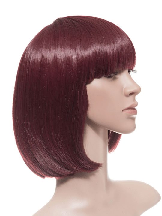 Wine Red Bob Party Wig