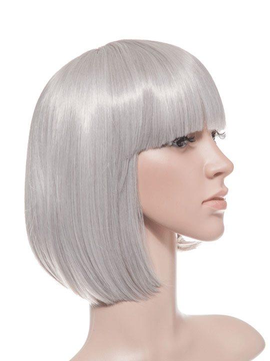 Silver Grey Bob Party Wig