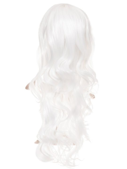 Ice White Long Curly Party Wig