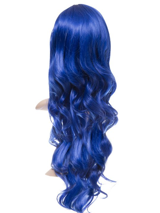Atlantic Blue Long Curly Party Wig