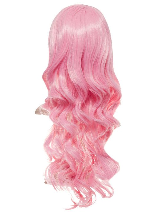 Pastel Pink Long Curly Party Wig Koko Couture