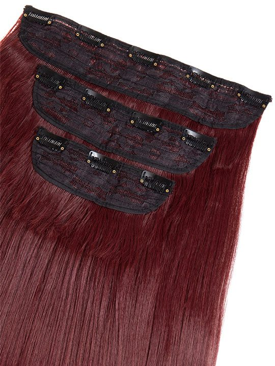Envy 3 weft straight 22 24 hair extensions in burgundy koko envy 3 weft straight 22 24 hair extensions in burgundy pmusecretfo Choice Image