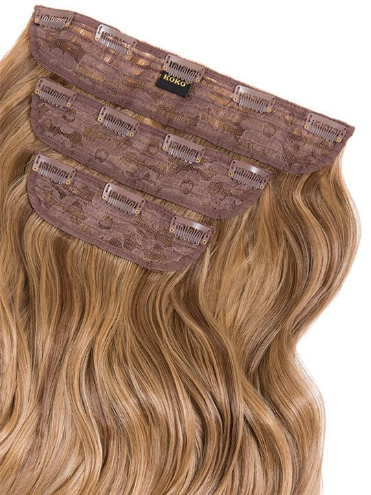 Lena 3 Weft Curly 22 Hair Extensions In Mellow Brown Koko Couture
