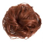 Large hair scrunchie copper red full view