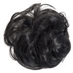 large hair scrunchie jet black