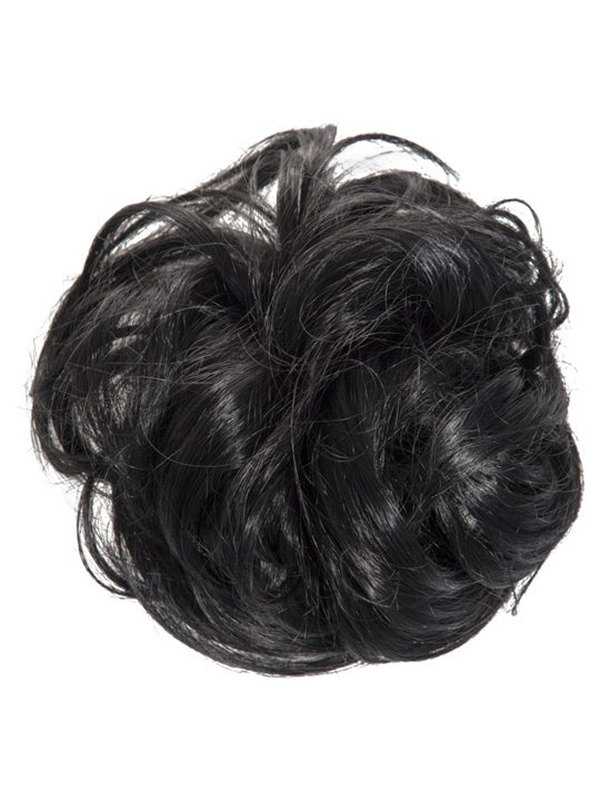 large hair scrunchie jet black