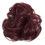Large Hair Scrunchie Burgundy