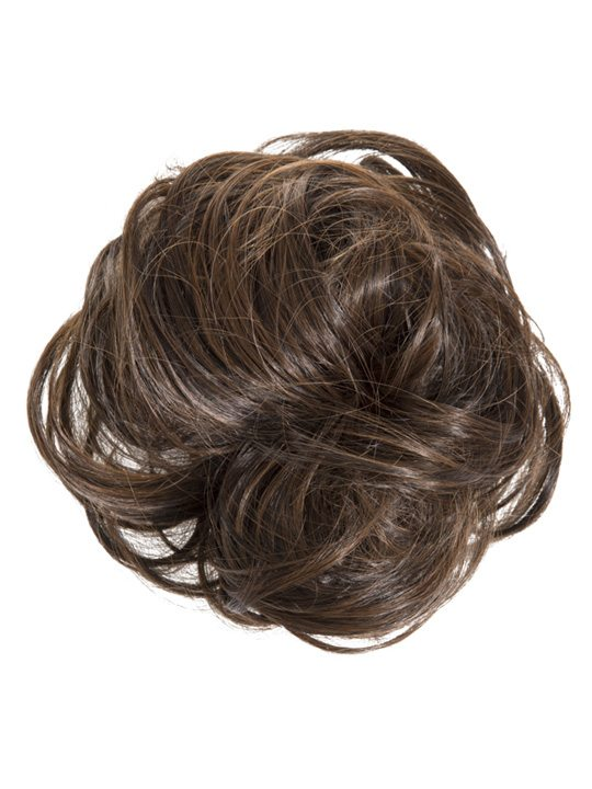 large hair scrunchie brunette