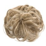 large hair scrunchie honey blonde