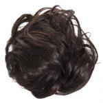 large hair scrunchie dark brown