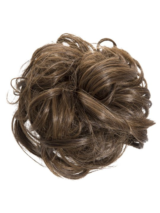 diana large hair scrunchie in brown and caramel koko couture