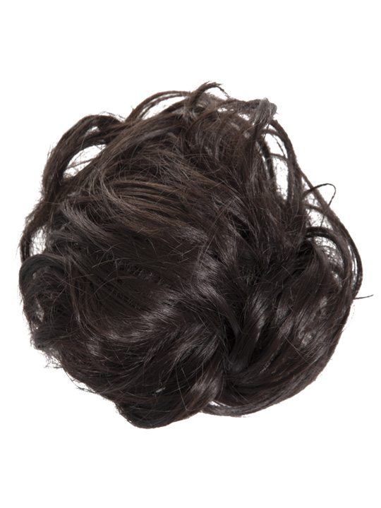 large hair scrunchie dark brown