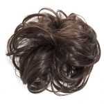large hair scrunchie chocolate brown