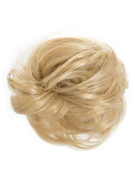 large hair scrunchie golden blonde