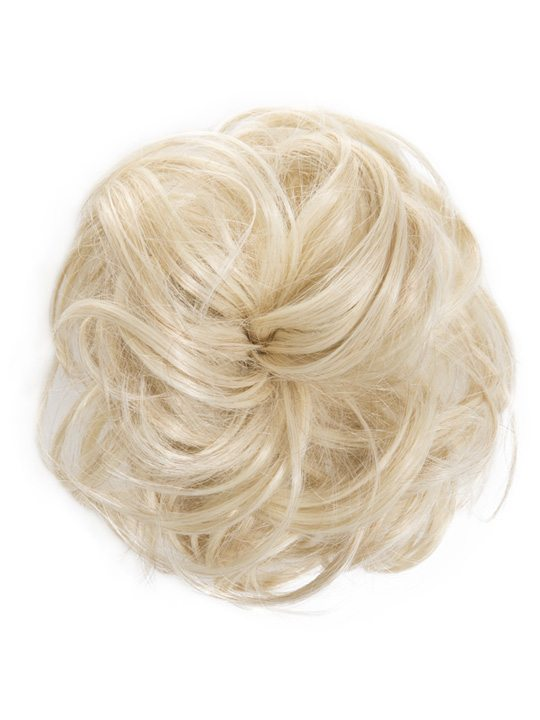 large hair scrunchie light blonde