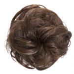 large hair scrunchie chestnut brown
