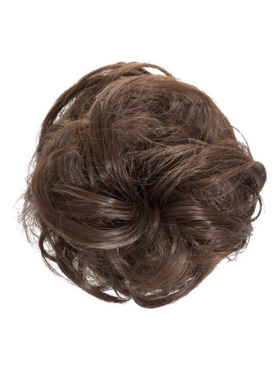 large hair scrunchie chestnut brown