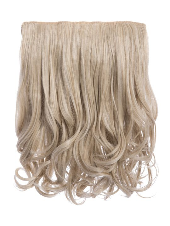 Rosie 1 Weft 16u2033 Curly Hair Extensions In Light Golden Blonde