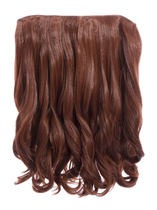 Rosie 1 Weft 16 Curly Hair Extensions In Copper Red Koko Couture