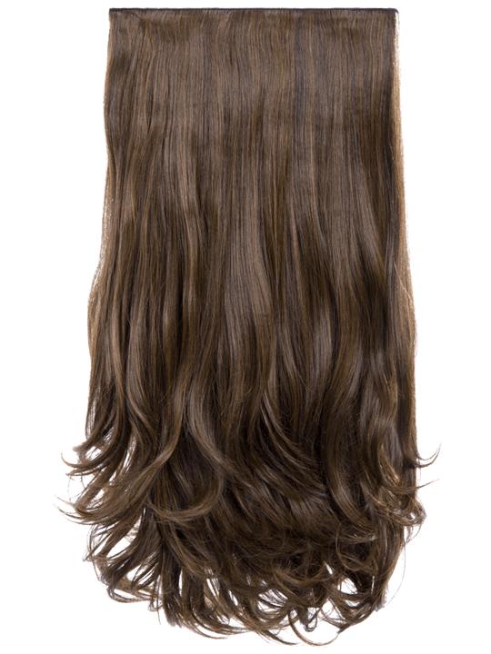 5 Weft Loose Curl Hair Extensions Dark Brown Caramel Koko Couture