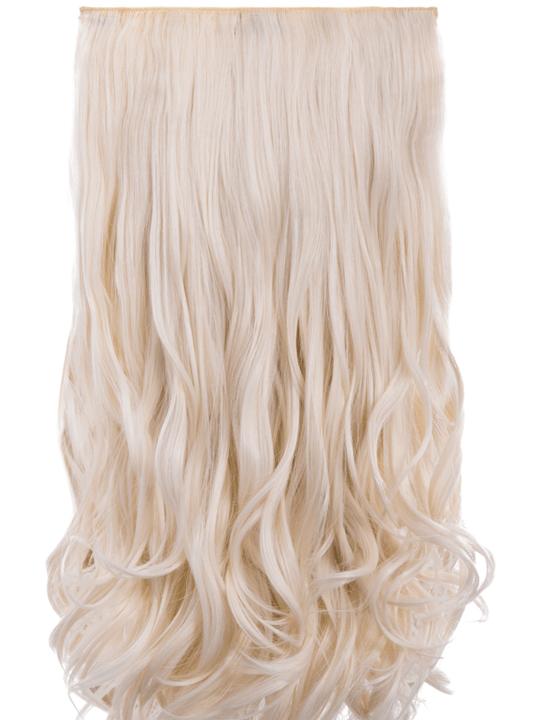 Candice 5 Weft Loose Curl Hair Extensions In Bleach Blonde Koko