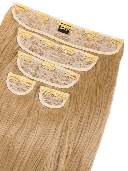 Candice 5 Weft Loose Curl Hair Extensions In Caramel Blonde Koko