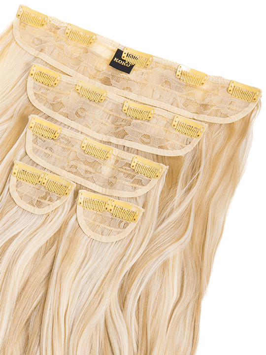 Candice 5 weft loose curl hair extensions in light champagne candice 5 weft loose curl hair extensions in light champagne blonde pmusecretfo Images