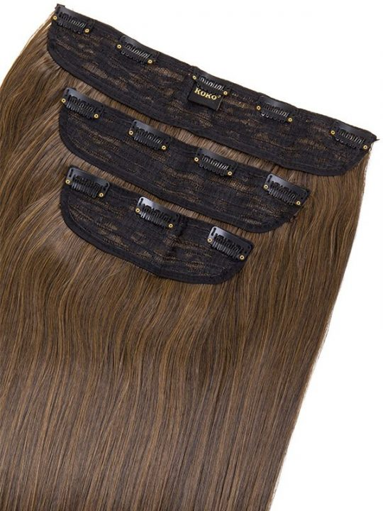 Chiara 3 weft straight 16 18 hair extensions in dark brown chiara 3 weft straight 16 18 hair extensions in dark brown caramel pmusecretfo Gallery