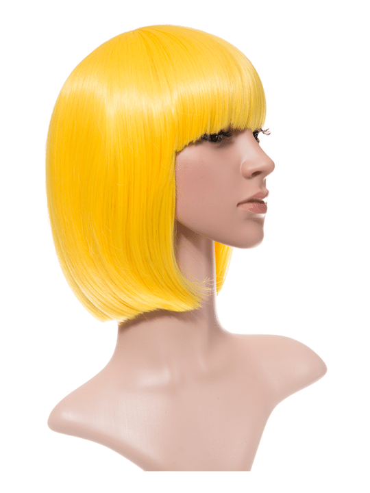 Yellow Bob Party Wig