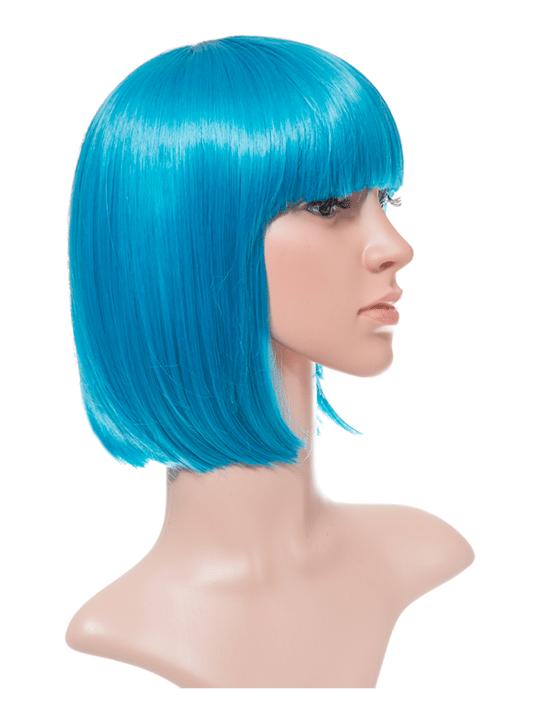 Neon Blue Bob Party Wig