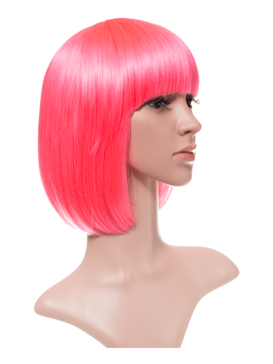 Carnation Pink Bob Party Wig