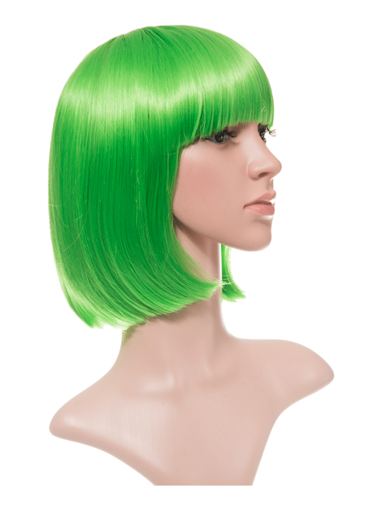 Spring Green Bob Party Wig